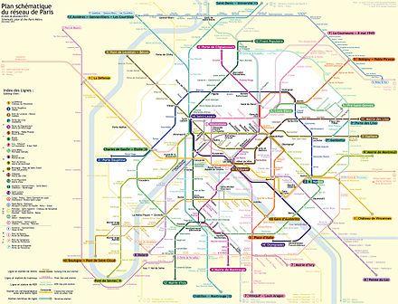 Carte Métro de Paris - Métro de Paris