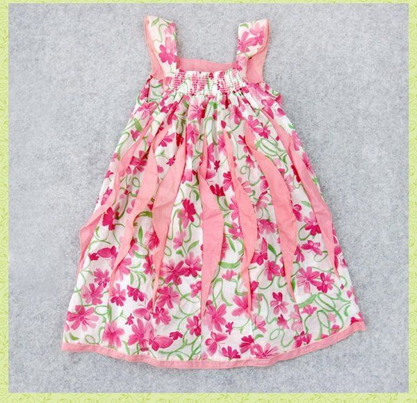 Baby Girl Dress Patterns | girls dress,Bow tie at rear Pink ...