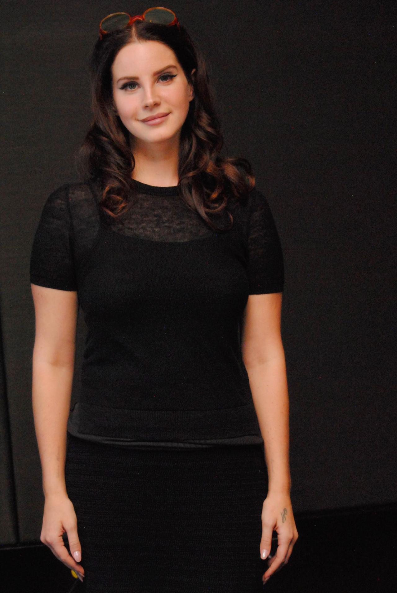 "lizzymedia: "" Lana Del Rey at a 'Big Eyes' press conference, New York December 4, 2014 """