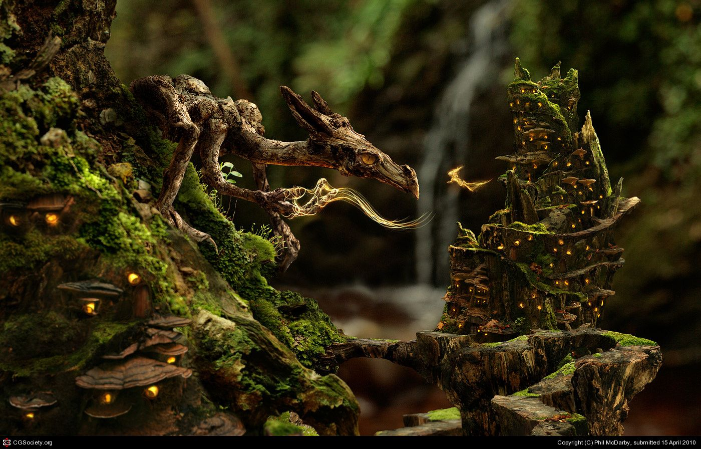 BY Phil McDarby...... Wood Dragon............. Click to enlarge...