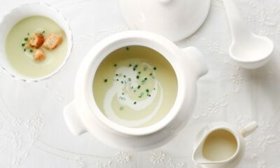 Crème de poireaux au vin blanc | Recette | Poireaux à la ...