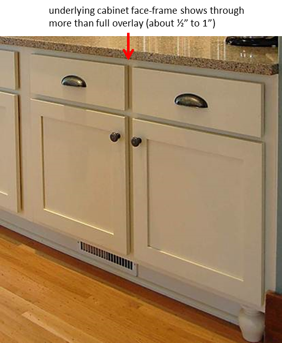 partial overlay  cabinet types in 2019  White shaker