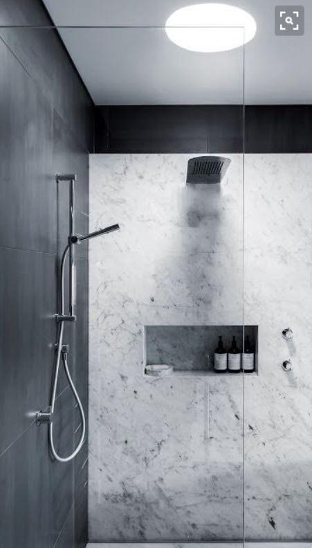 Shower Niche Porcelain Panel Walls No Grout Easy Clean Modern Shower Design Modern Shower Shower Design