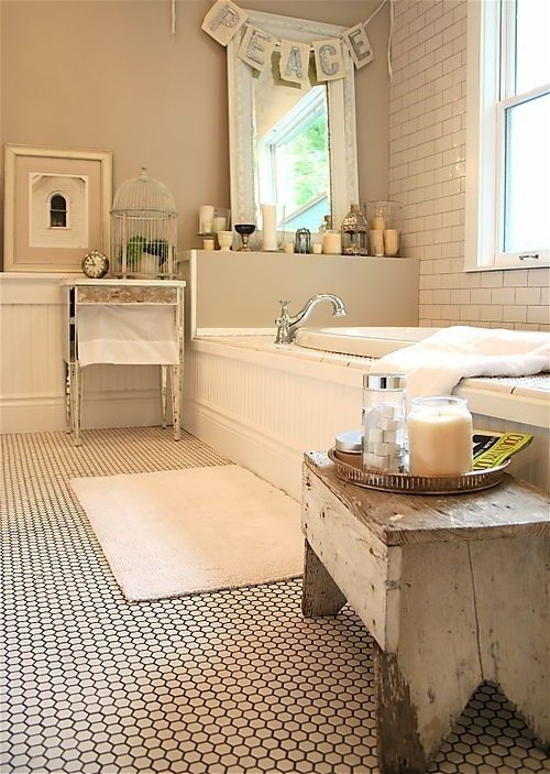 penny tiles + subway tiles