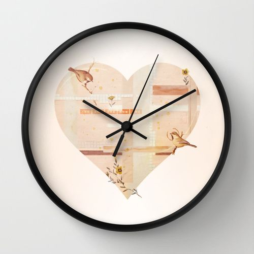 Feb14 Wall Clock by Heather Landis | Society6 #art  #design #awesome #print  #poster  #color  #cool  #gift  #gift #ideas  #hipster  #funny  #Illustration  #threadless  #drawing  #girls  #beautiful #humor