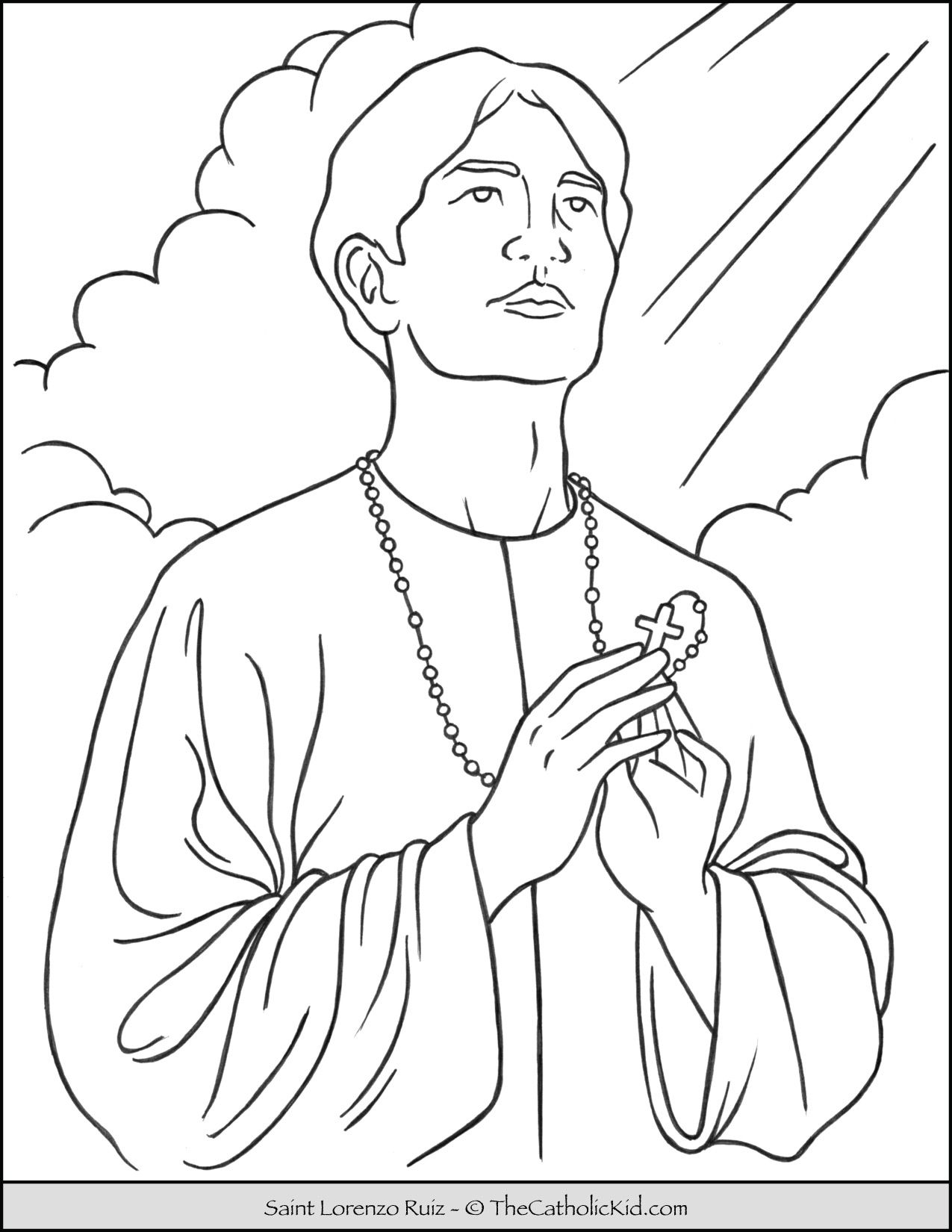 Saint Lorenzo Ruiz Coloring Page Coloring Pages Saint Lorenzo