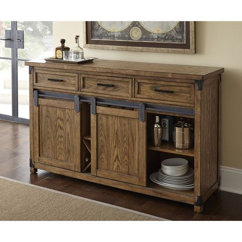 Britta Server Dining Table With Storage Texas Home Decor Furniture