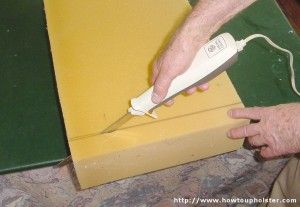 Example Of Cutting Foam With A Electric Knife Carving Cutter Upholstery