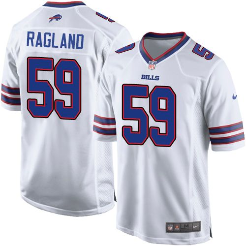 watch 5e7c5 06e31 Men's Nike Buffalo Bills #59 Reggie Ragland Game White NFL ...