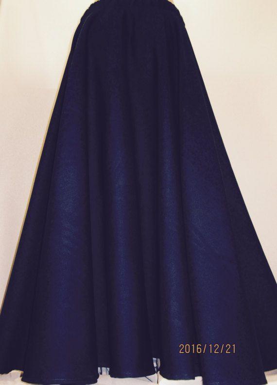 5e899e2010 Dark Royal Blue Maxi Skirt Full Circle Skirt~Navy Blue Maxi Skirt Wedding  Bridesmaid Poly wool Soft Skirt custom skirt@sohoskirts