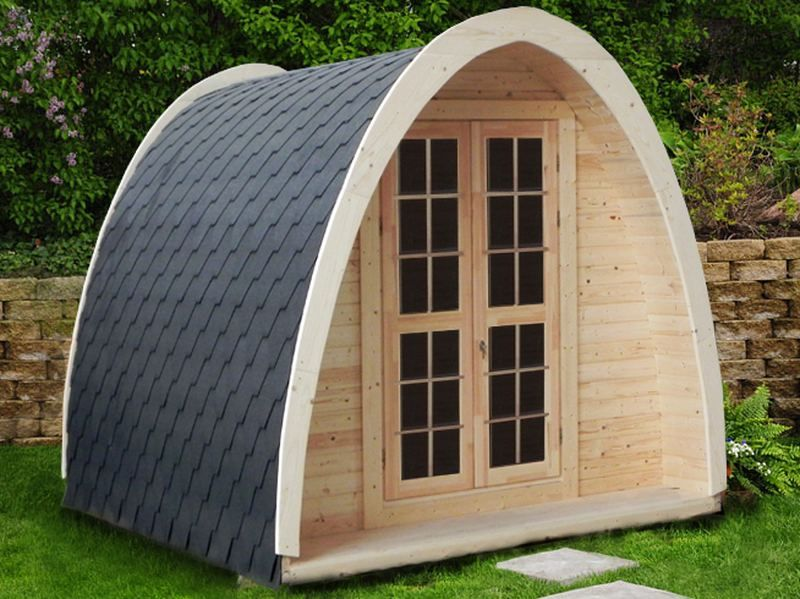 Studio bureau de jardin  modle igloo  longueur 4m  TerraGallia  Lhabitat au naturel