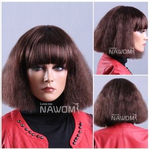 Bob hair wigs for women short brown wigs. This is a wig you can buy if you  want to look like I did in my uncomfortable preteen years. Perfect 80s  frizz. 6584bac18f