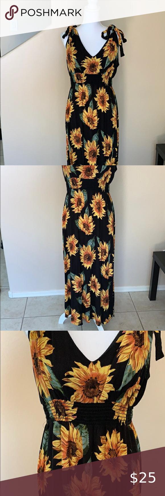 F21 Plus Sunflower Maxi Dress Maxi Dress Elegant Dresses Clothes Design [ 1740 x 580 Pixel ]