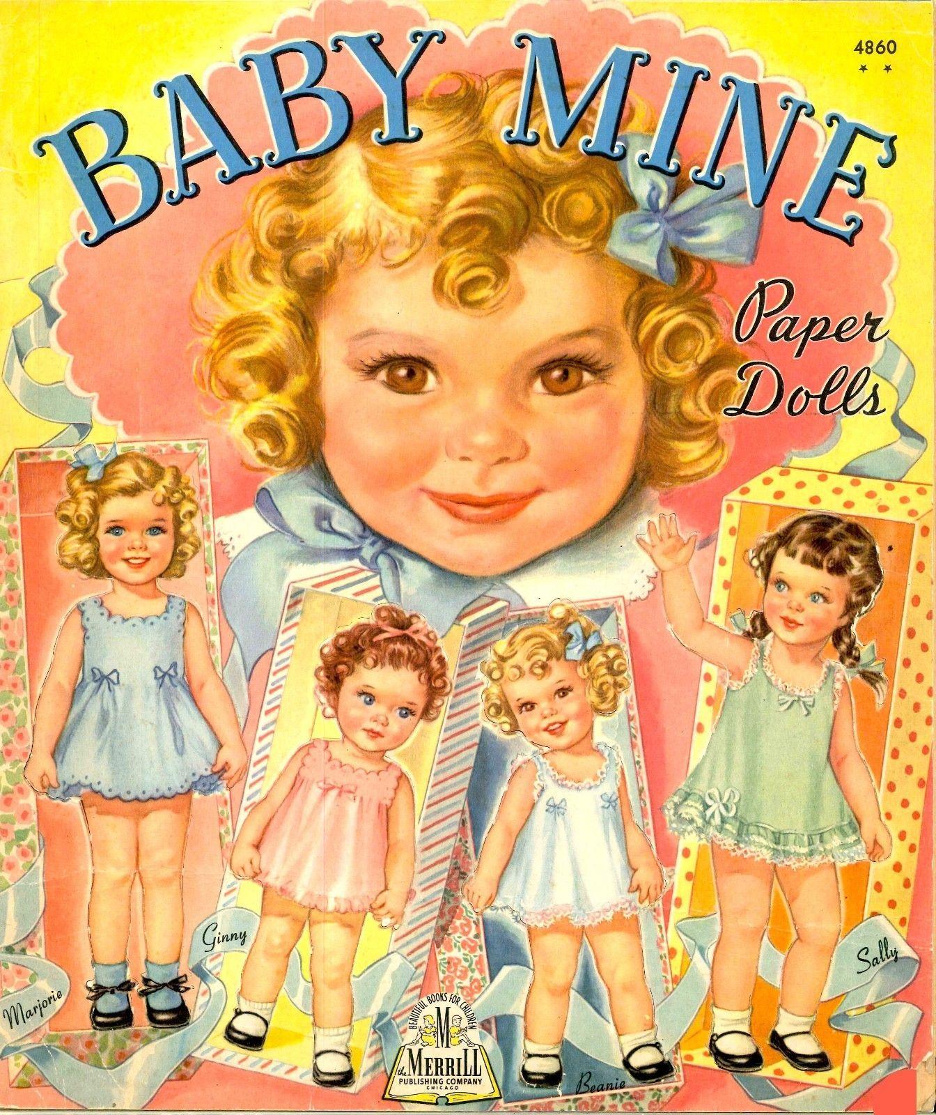 VINTGE 1944 BABY MINE PAPER DOLL LASER REPRODUCTION~UNCUT~LO PR~NO1SELR FREE  SH