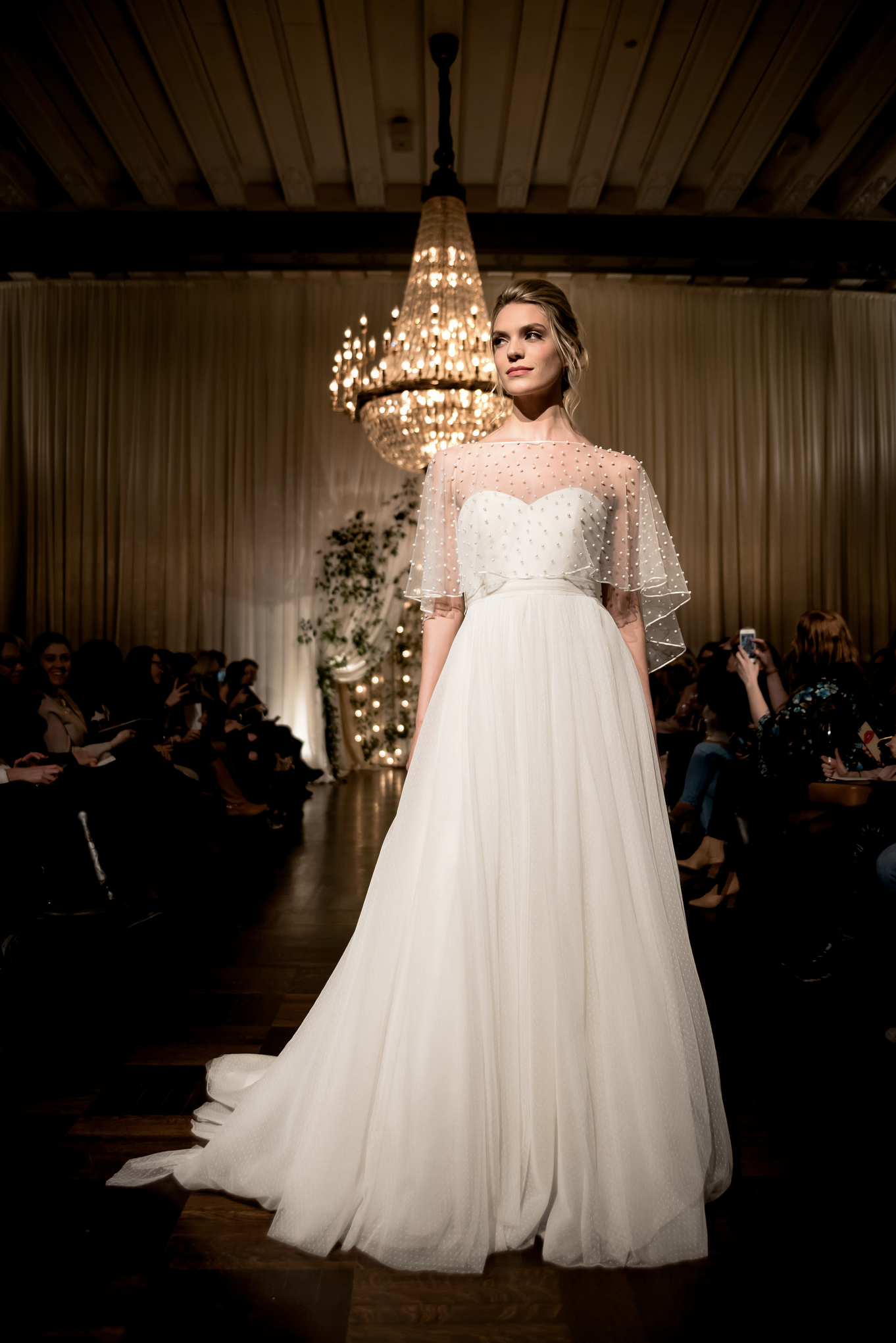 Sheer top wedding dress  The Fiona top part of the uJenny by Jenny Yoou Bridal Collection