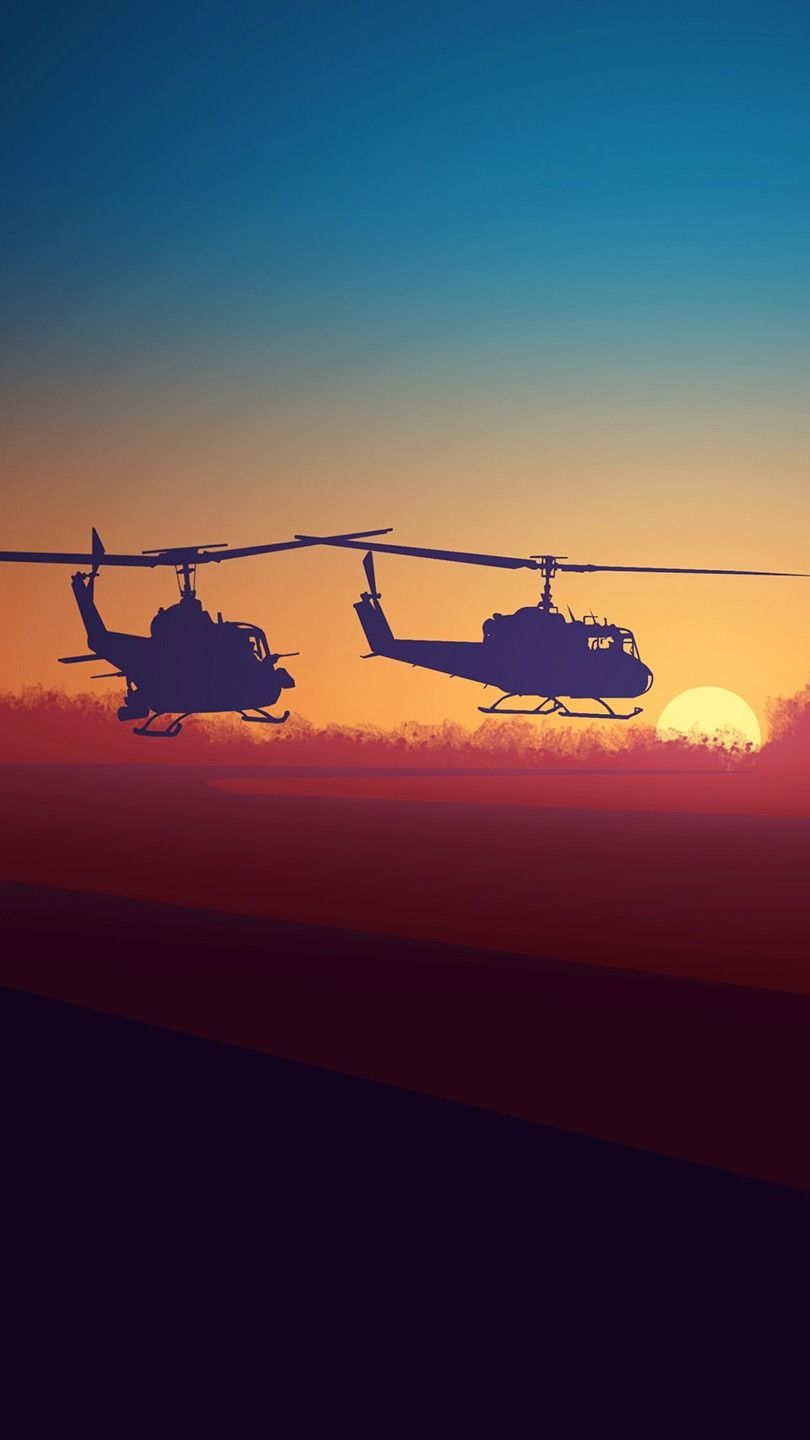 Bell-UH-Choppers-Minimal-iPhone-Wallpaper from iphoneswallpapers.com