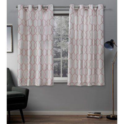Beachcrest Home Plant City Geometric Semi Sheer Grommet Curtains Grommet Curtains Home Curtains Colorful Curtains