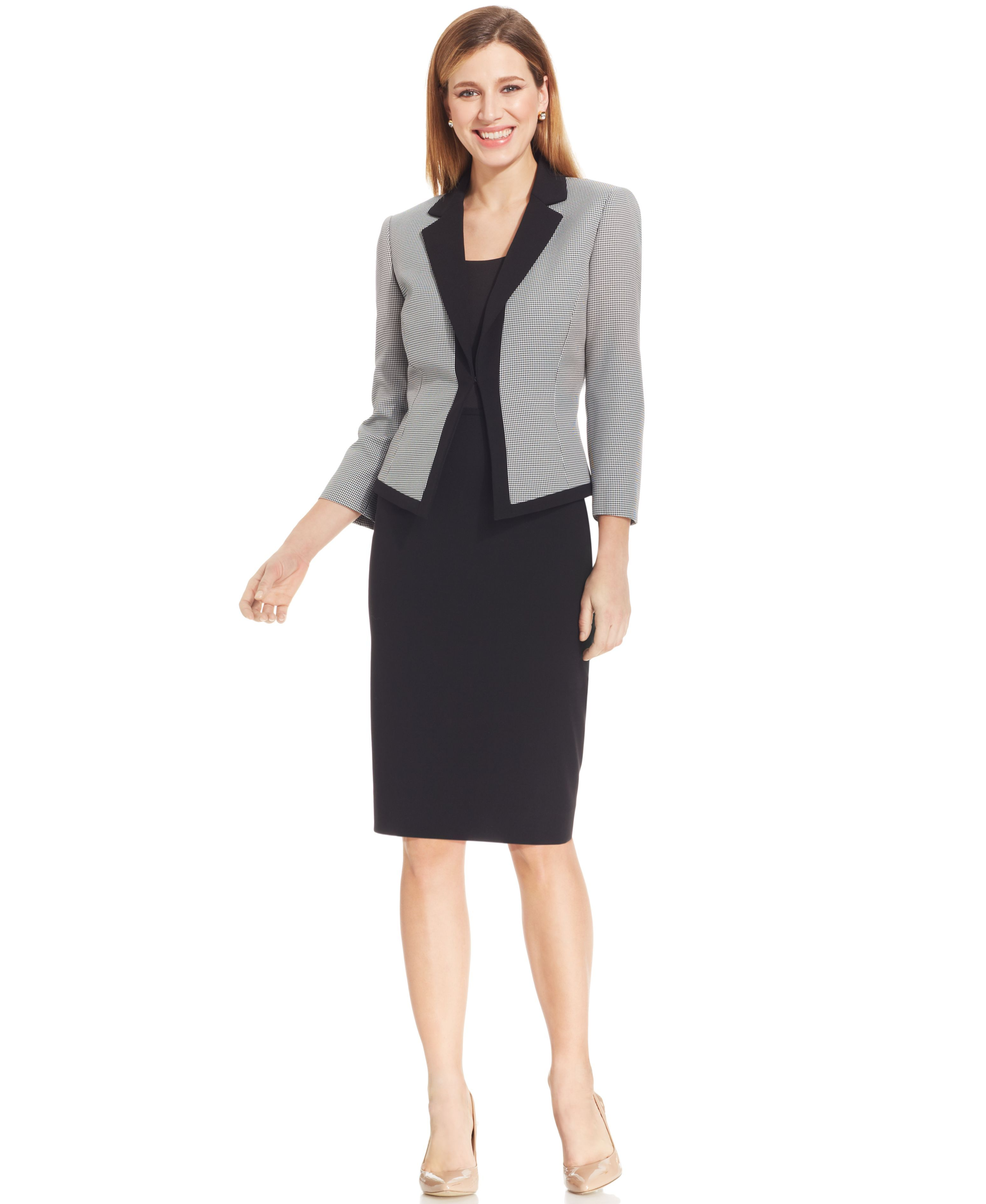 46c35c176e8a MACYS ---- Tahari ASL Houndstooth-Jacket Skirt Suit ---- 2659493_fpx ----  Nane Feist ----