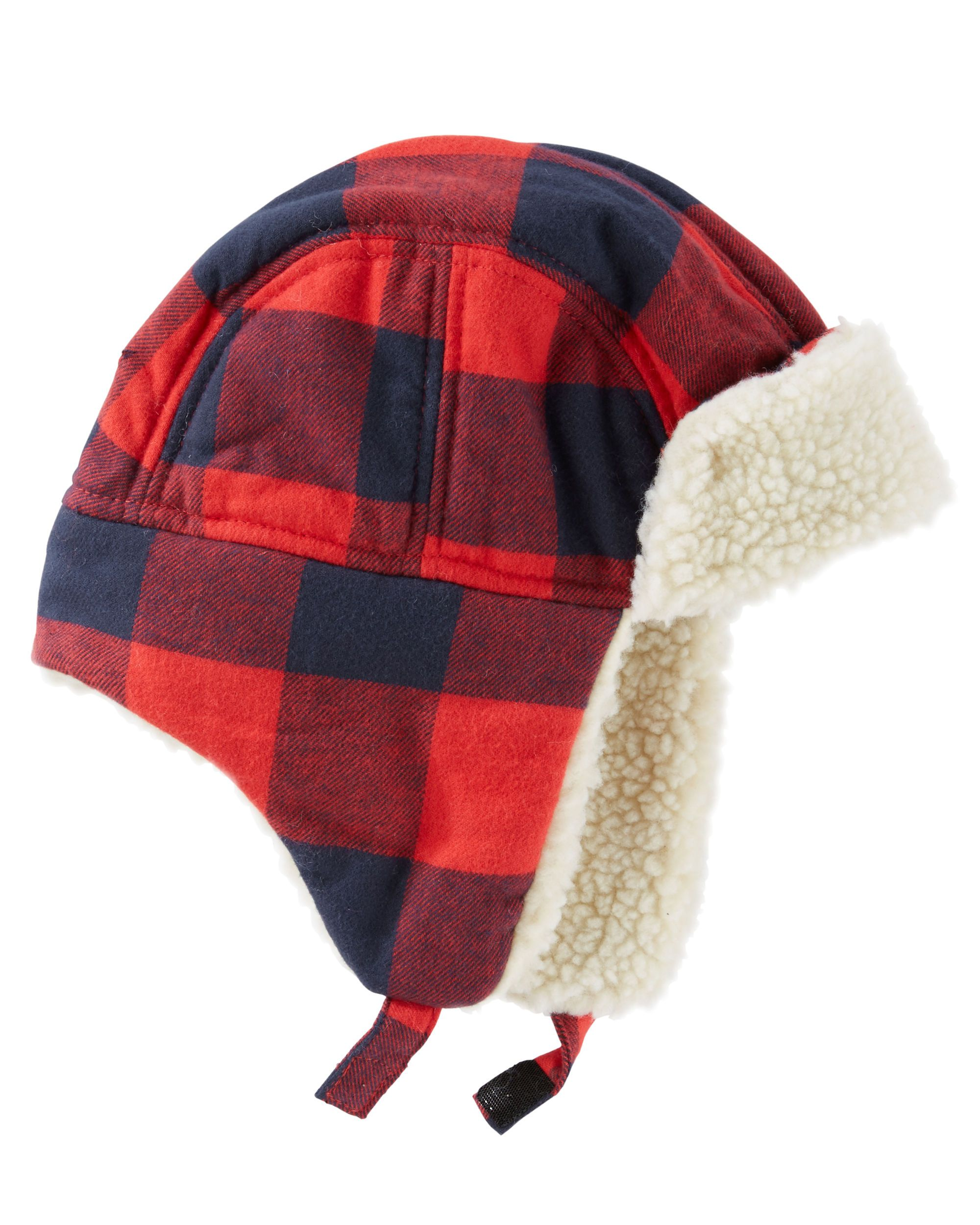 9b56c842911 Baby Boy Buffalo Check Trapper Hat from OshKosh B gosh. Shop clothing    accessories from a trusted name in kids