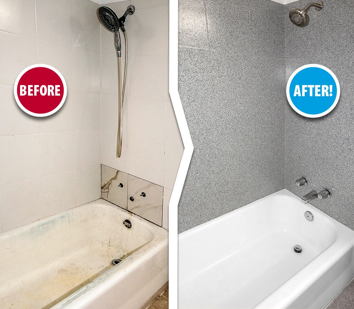 It S Hard To Believe This Is The Same Bathtub Tile Huh What