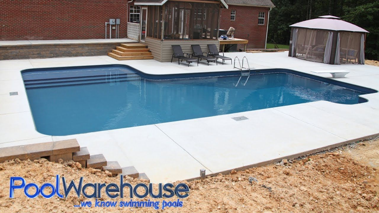 L Shaped Diy Inground Pool Kit With Tanning Ledge Bench From