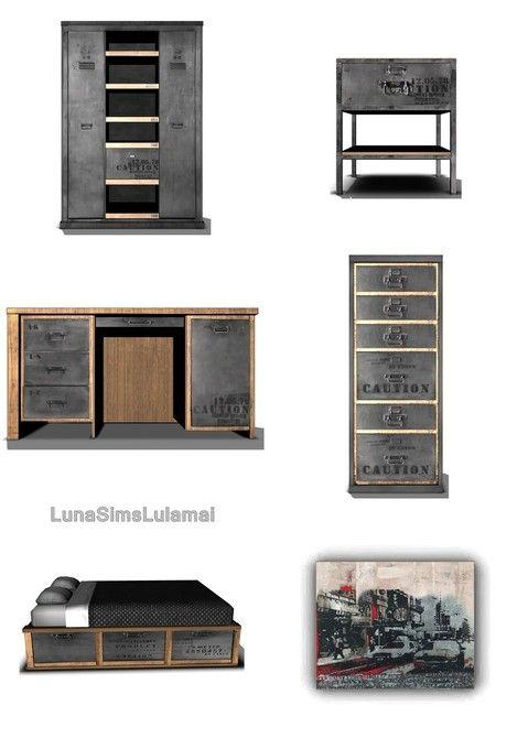 Dormitorio industrial chic set @ lunasimslulamai