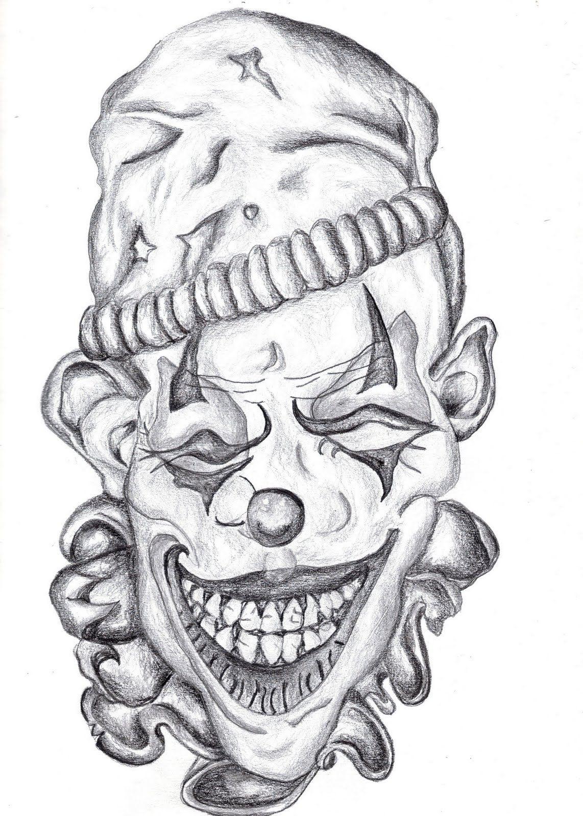 Desenho Palhaço Tatuagem jester evil joker drawings | art-a-holic: chelsea paintings