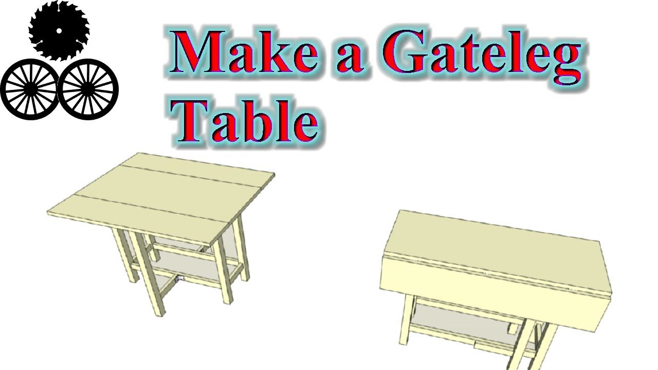 free plans make a gateleg table, compact multifunctional small ...