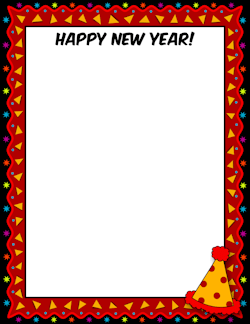 happy new year border page borders stationary new year clipart clip art