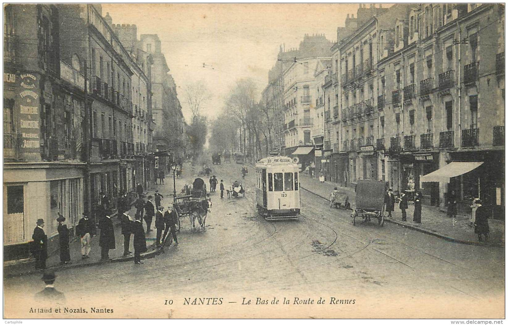 44 nantes bas de la route de rennes 1915 tramway nantes pinterest nantes rennes et. Black Bedroom Furniture Sets. Home Design Ideas