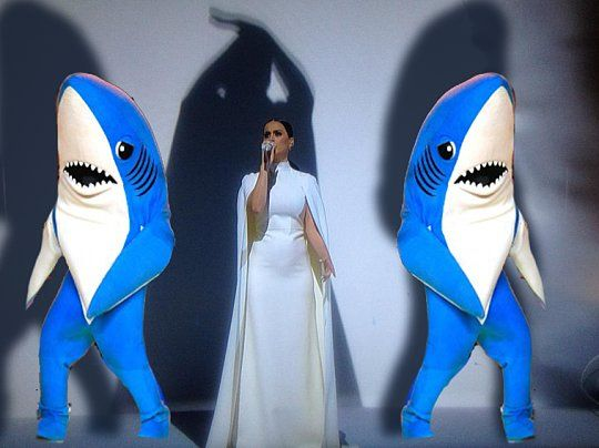 Everyone clearly missed the left shark and the right shark during Katy's performance.  What a mess the #Grammy's were.