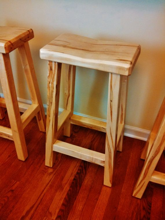 Horizon Stool Handmade Solid Wood Counter Or Bar Height Stool Etsy Stool Kitchen Remodeling Projects Bar Stools