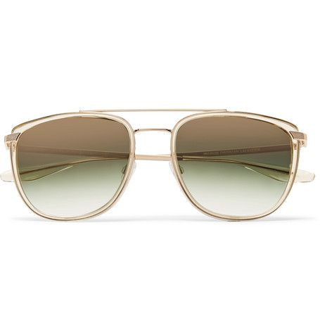 Barton Perreira Lafayette Aviator-style Tortoiseshell Acetate And Gold-tone Sunglasses - Tortoiseshell wmTxmVaqu2