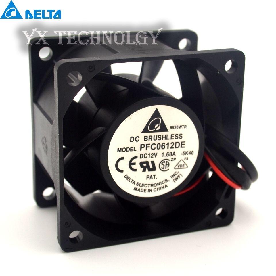 Delta New Pfc0612de 12v 1 68a 6038 6cm High Speed Cooling Fan