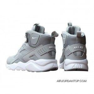 Nike Air Huarache High Top Grey/White