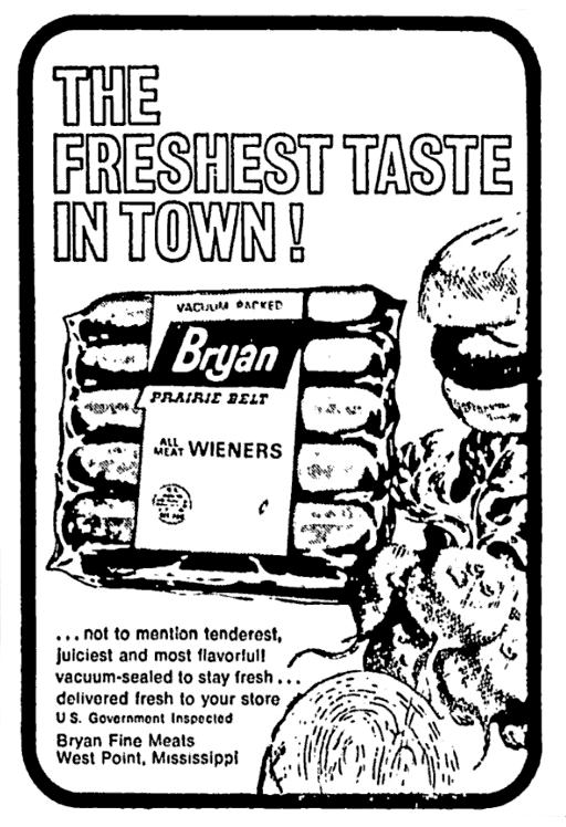 bryan hot dogs february 1969 1960 s newspaper vintage retail ads Top 10 Advertisements bryan hot dogs february 1969 newspaper advertisement hot dogs february retail