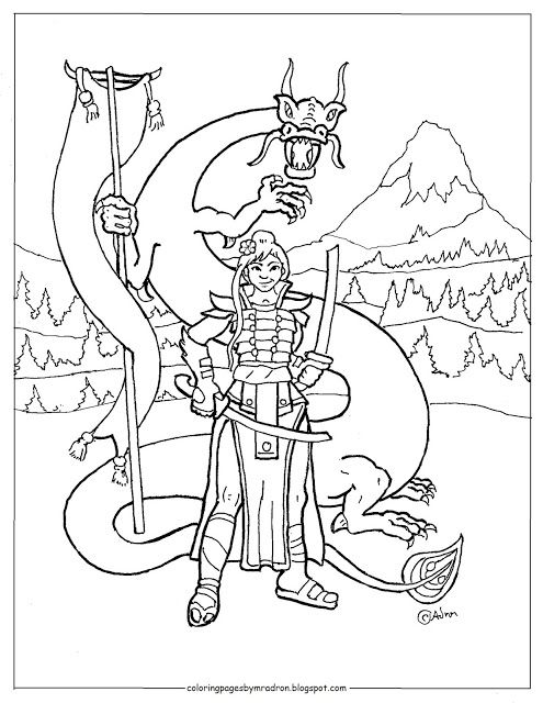 Coloring Pages For Kids By Mr Adron Printable Mulan Ninja Girl Coloring Page Dragon Coloring Page Coloring Pages For Girls Coloring Pages