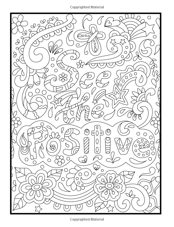 Amazon Inspirational Quotes An Adult Coloring Book With Motivational Sayings Positive Affirmations And Flower Design Patterns For Relaxation