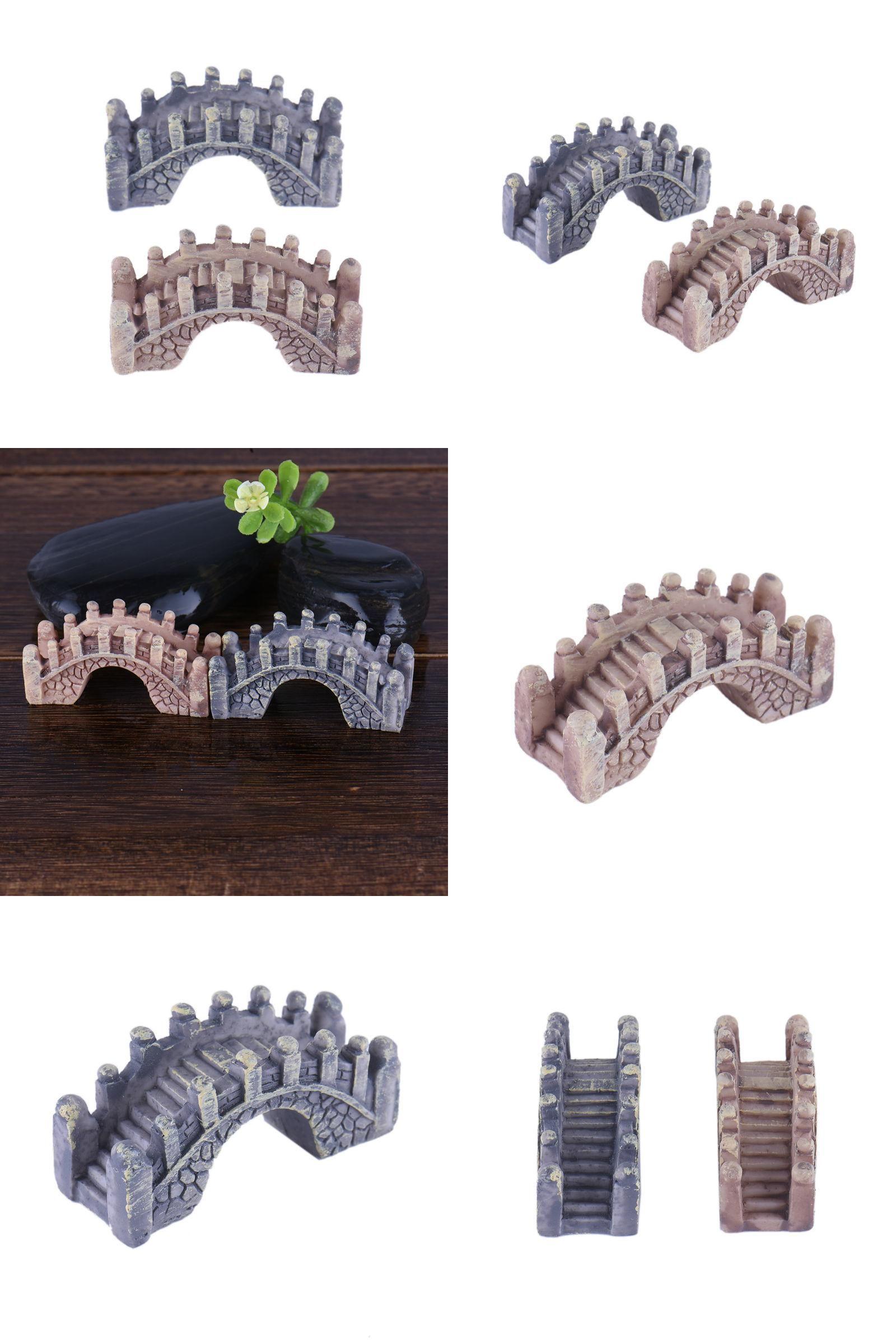 Visit to Buy pcs Hot Sale Mini Bridge Miniature Landscape Fairy
