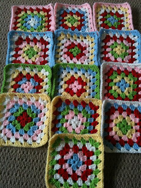 Granny squares. | Crochet | Pinterest | Cuadrados, Blusas lindas y ...