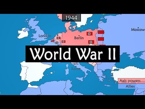 World War II - origins, events and consequences summarized on a map ...