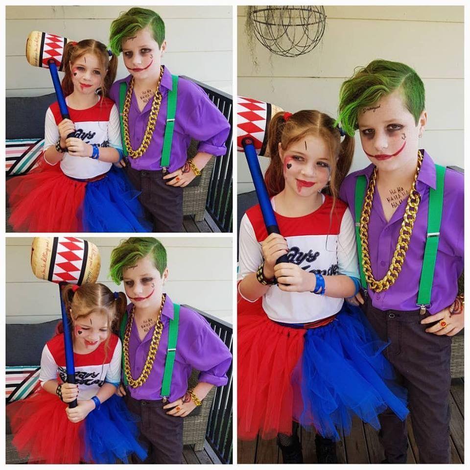 The joker and harley quinn costume kids book week pinterest