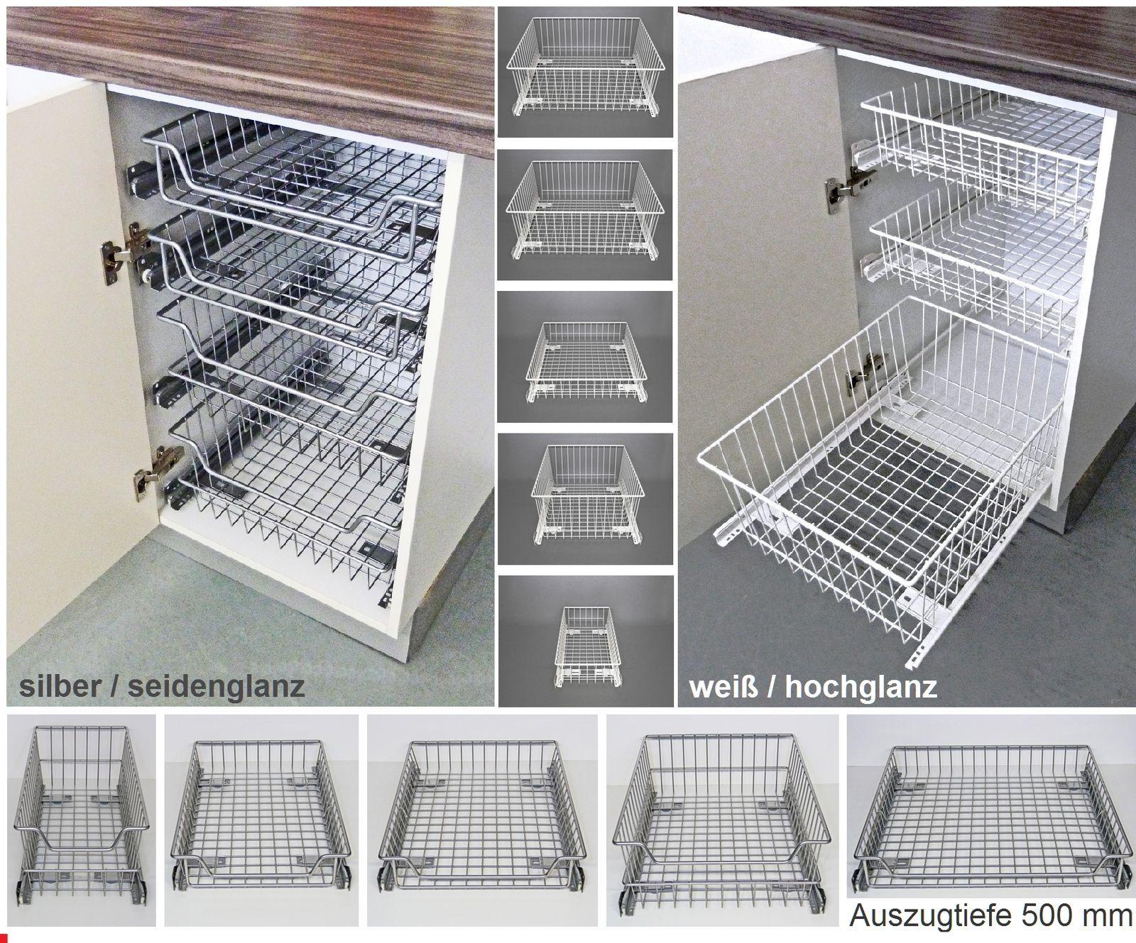In Jeden Küchen  Unterschrank, Hochschrank Oder Apothekerschrank  Einzusetzen. Der Gitterboden Des Auszugkorbes Gewährleistet