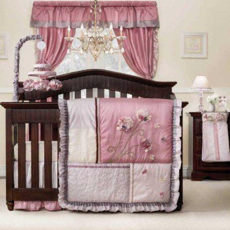 Kidsline Fleur Crib Bedding Set And Accessories On Sale Girl