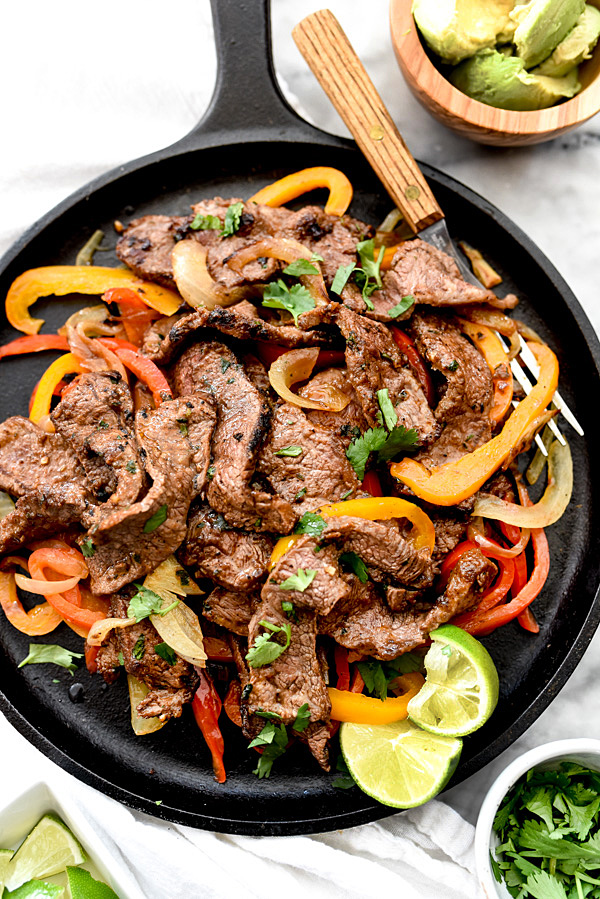 How to Make the Best Steak Fajitas Recipe Homemade | foodiecrush.com