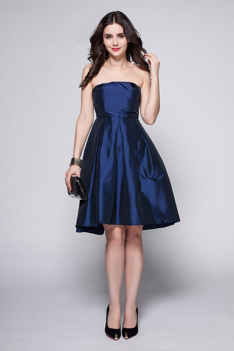 Little black dress for wedding party  Simple Elegant Scoop Taffeta Bridesmaid Wedding Party Dress DK