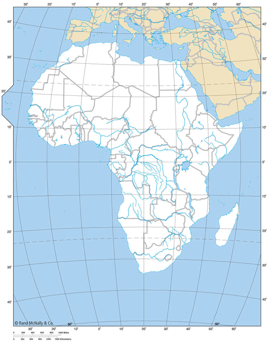 Africa Countries Rivers Lakes Long Lat Lines Cc Cycle 1