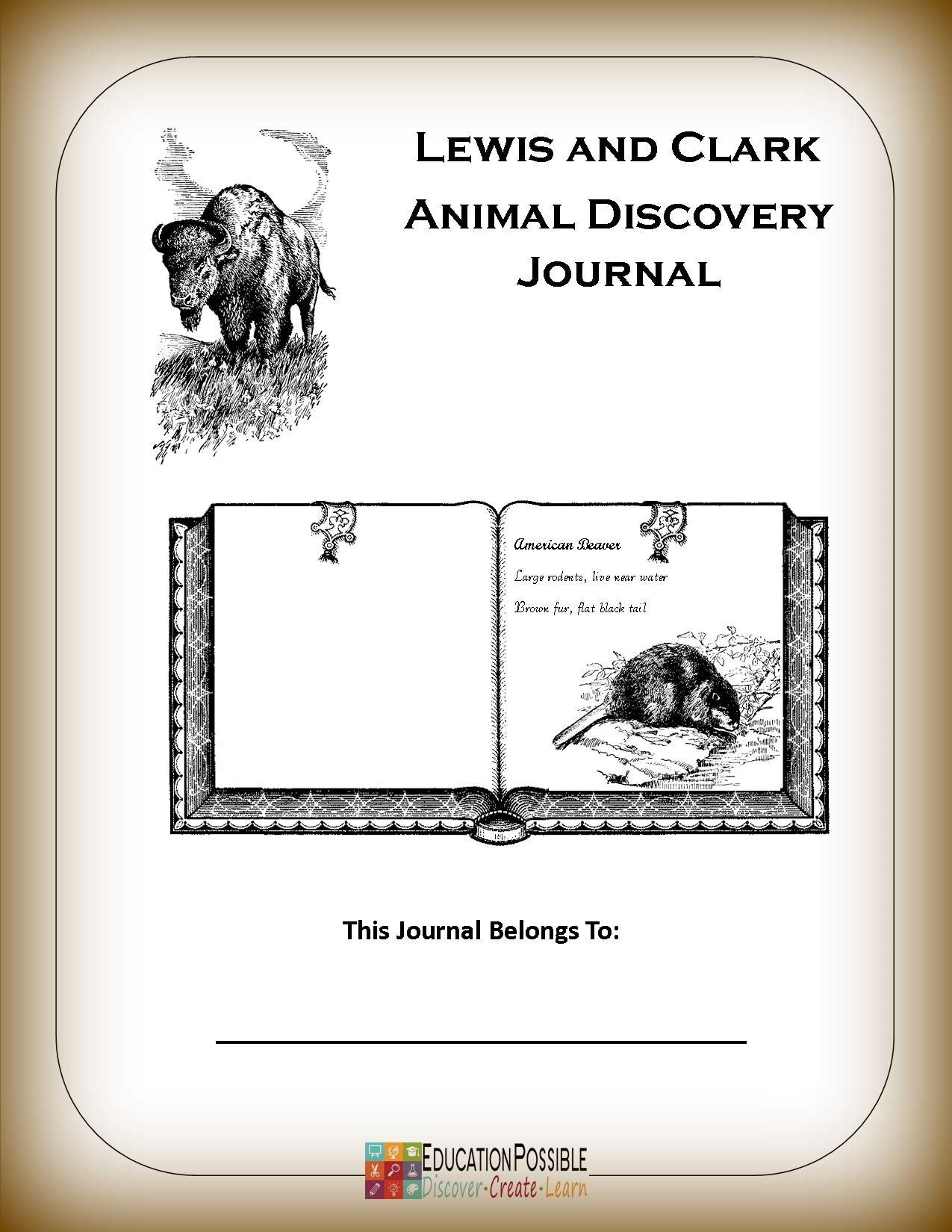 Lewis and Clark Animal Discovery Journal Lewis and clark