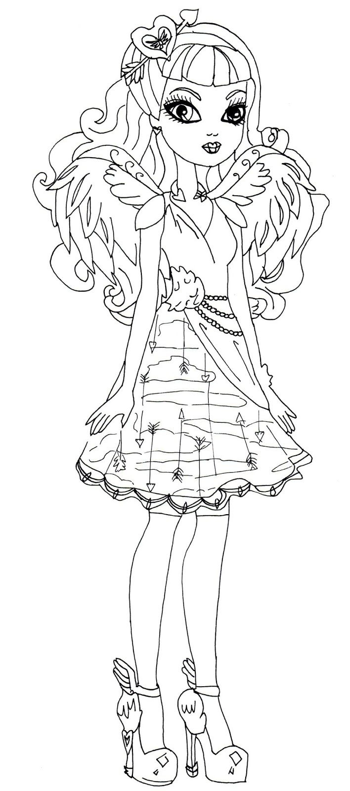 C A Cupid Ever After High Coloring Page Coloring Pages Cartoon Coloring Pages Free Printable Coloring