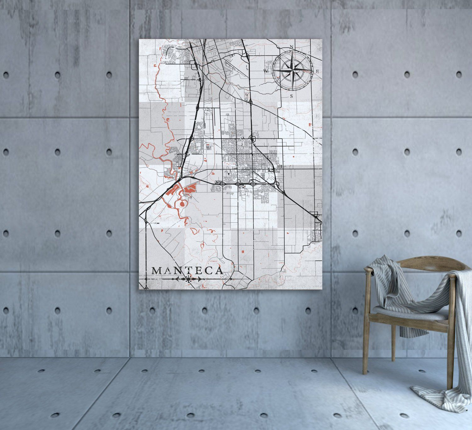 MANTECA CA Canvas Print California Vintage map City Town ... on stockton map, linden map, sanger map, santee map, escalon map, burney map, colton map, berkeley map, woodlake map, milpitas map, lemoore map, french camp map, garberville map, marina map, brentwood map, fullerton map, port costa map, patterson map, avenal map, oakdale map,